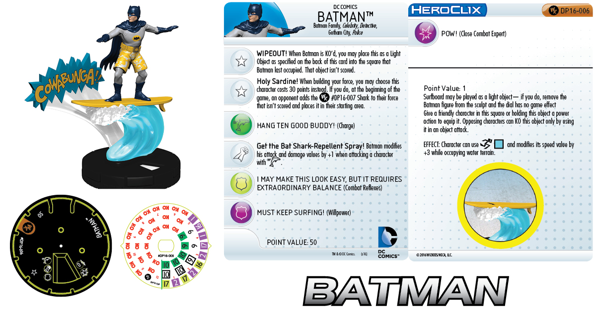 DC Comics HeroClix: 2016 Convention Exclusives - Surfing Batman
