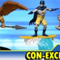DCComics con exclusives hawkman batman shark