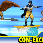 DCComics con exclusives hawkman batman shark