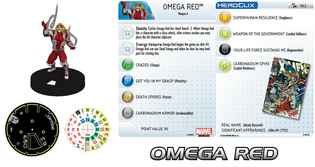 Marvel HeroClix: Uncanny X-Men- Omega Red
