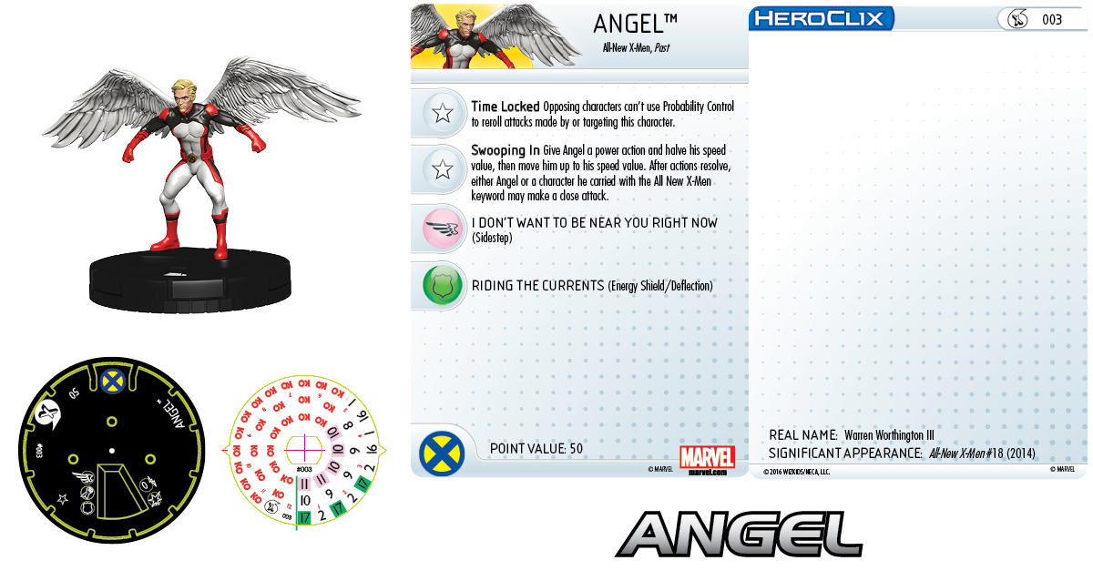 Marvel HeroClix: All-New X-Men Fast Forces- Angel