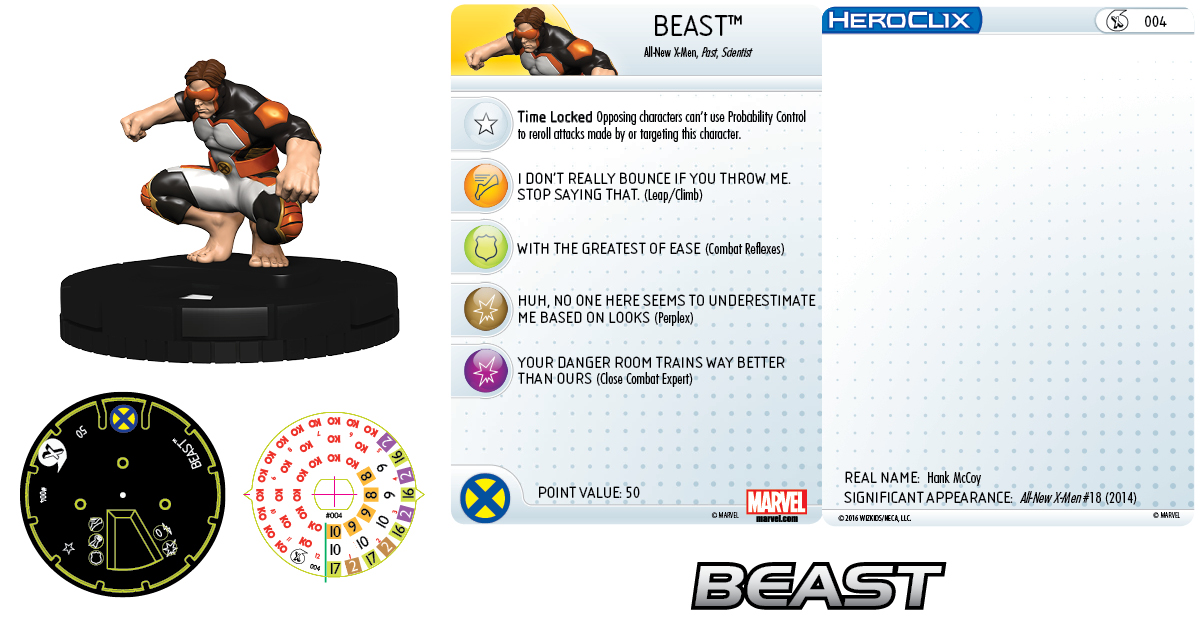 Marvel HeroClix: All-New X-Men Fast Forces- Beast