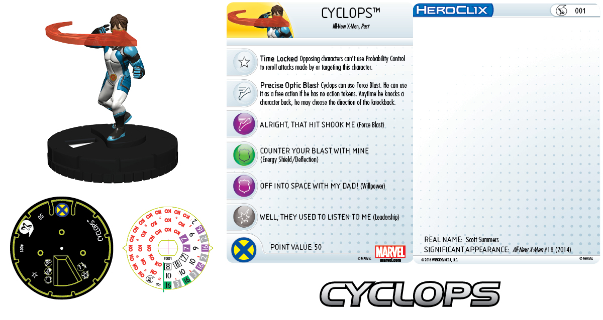 Marvel HeroClix: All-New X-Men Fast Forces- Cyclops