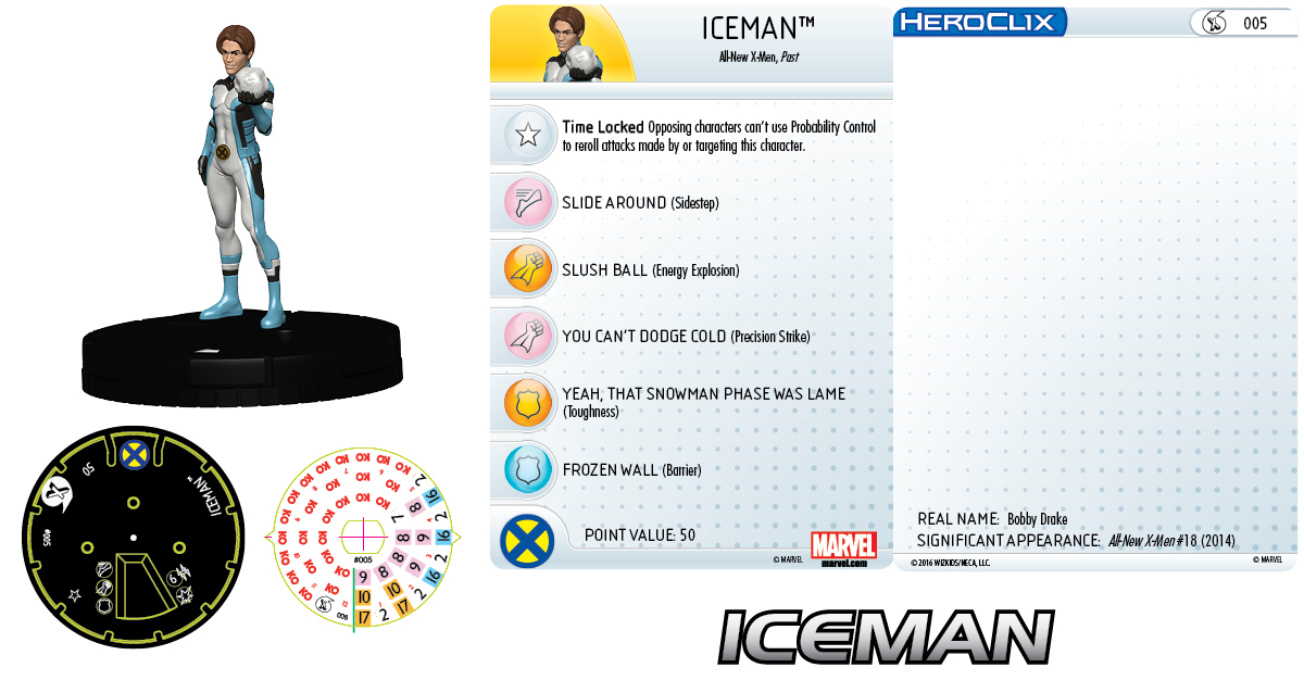 Marvel HeroClix: All-New X-Men Fast Forces - Iceman
