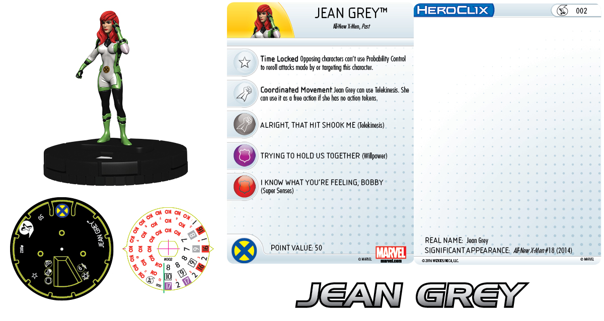 Marvel HeroClix: All-New X-Men Fast Forces- Jean Grey