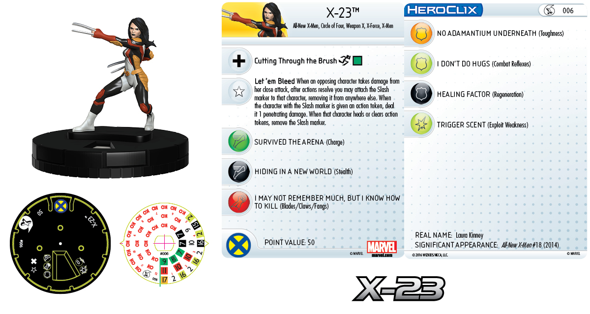 Marvel HeroClix: All-New X-Men Fast Forces - X-23