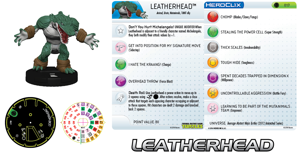 Teenage Mutant Ninja Turtles HeroClix Team Building- Leatherhead