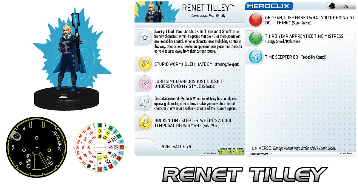 Teenage Mutant Ninja Turtles HeroClix - Renet Tilley
