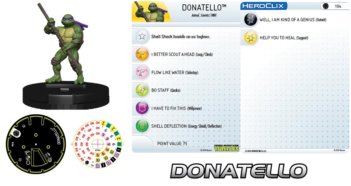 Teenage Mutant Ninja Turtles HeroClix: Donatello