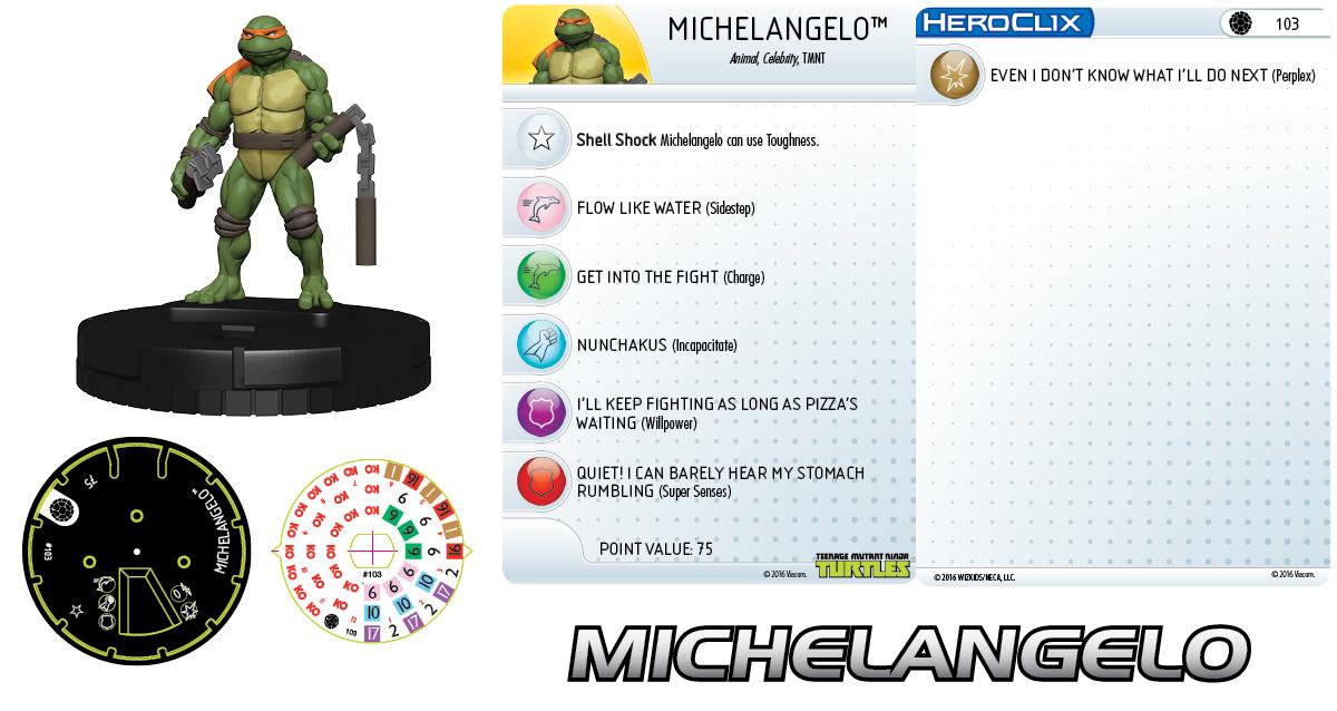 Teenage Mutant Ninja Turtles HeroClix: Michelangelo