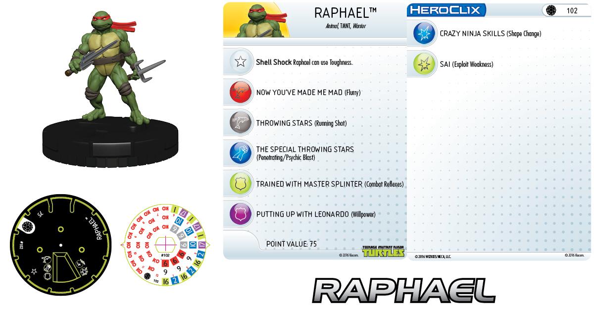 Teenage Mutant Ninja Turtles HeroClix: Raphael