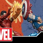 Marvel HeroClix: Civil War Storylin OP Iron Man & Captain America Prize Figures