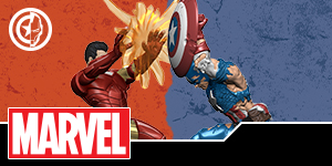 Marvel HeroClix: Civil War Storylin OP Iron Man & Captain America Prize Figures