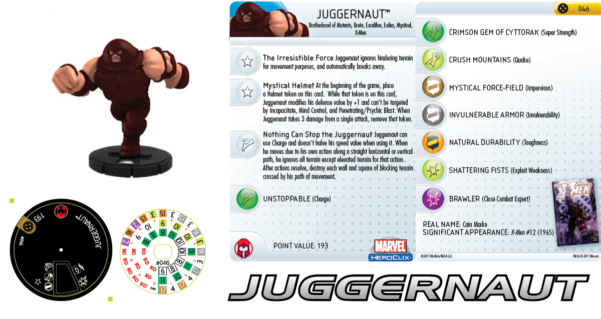 Clix It Up: Marvel HeroClix: Giant-Size X-Men - Juggernaut