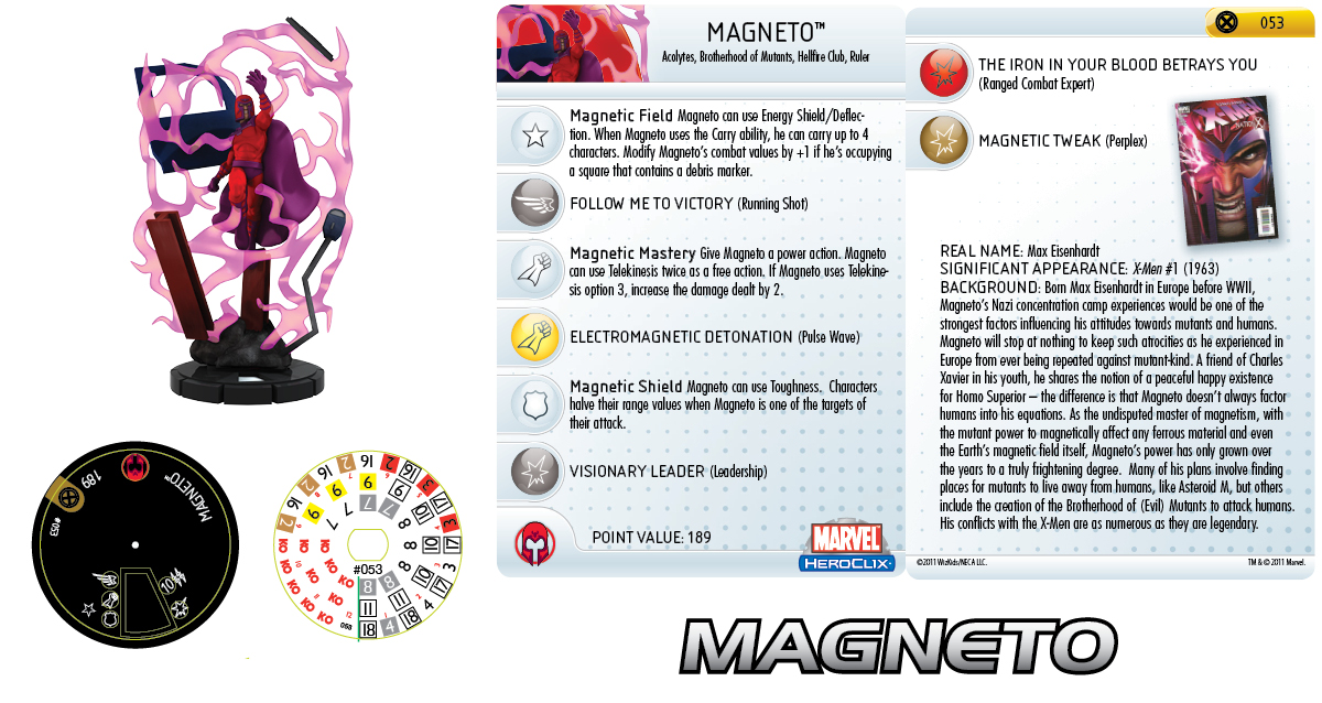 Clix It Up - Marvel HeroClix: Giant Size X-Men Magneto