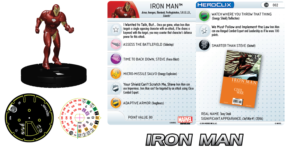 Marvel HeroClix: Civil War Storyline OP - Iron Man 002