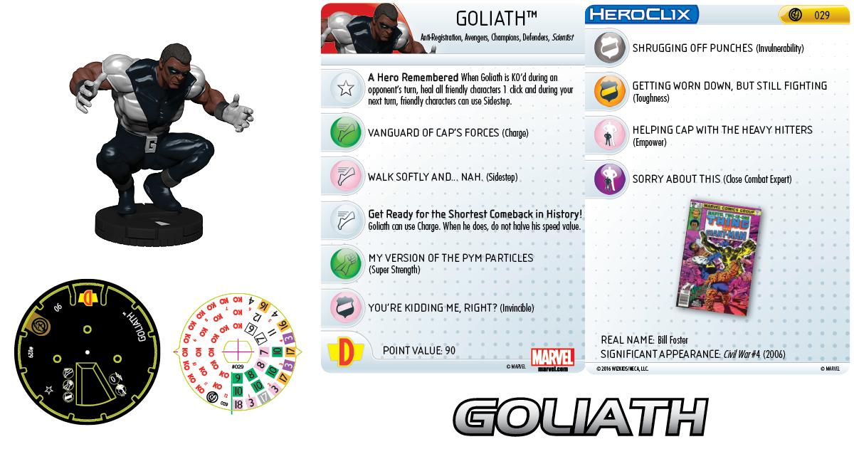 Marvel HeroClix: Civil War Storyline OP - Goliath