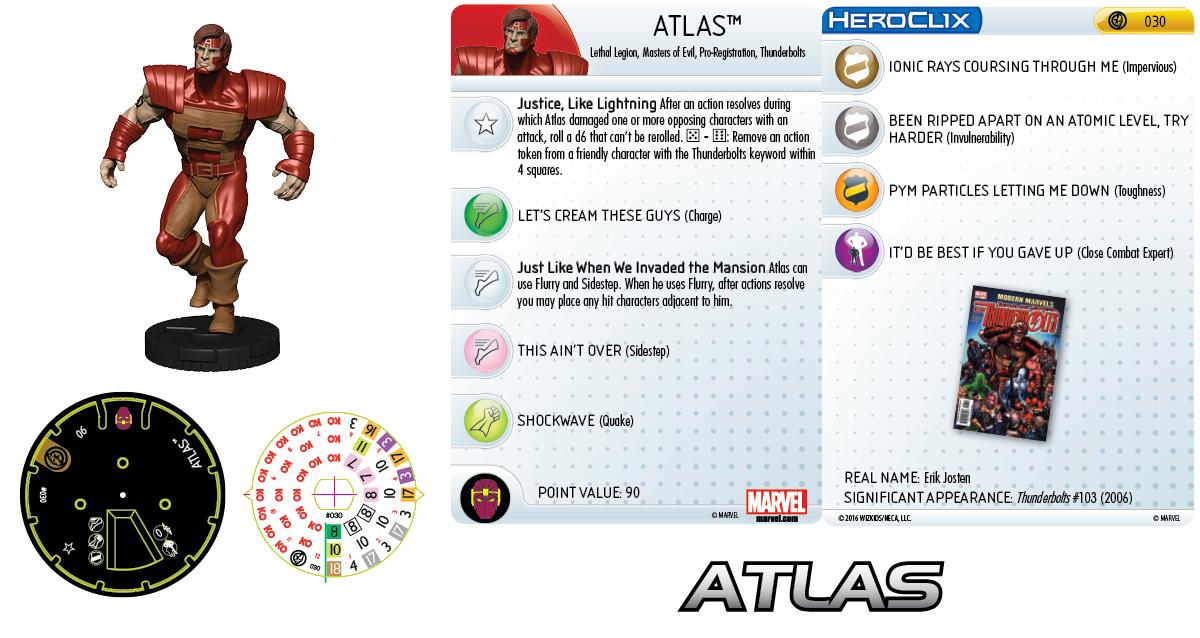 Marvel HeroClix: Civil War Storyline OP - Atlas
