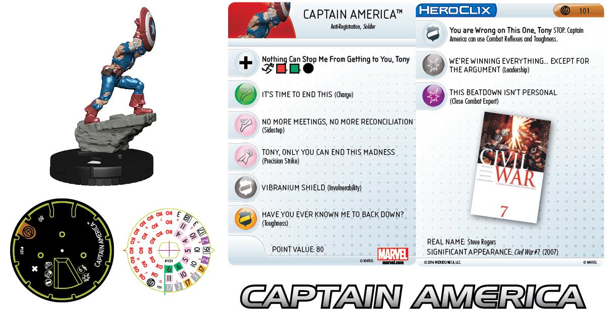 Marvel HeroClix: Civil War Storyline OP - Captain America Prize Figure