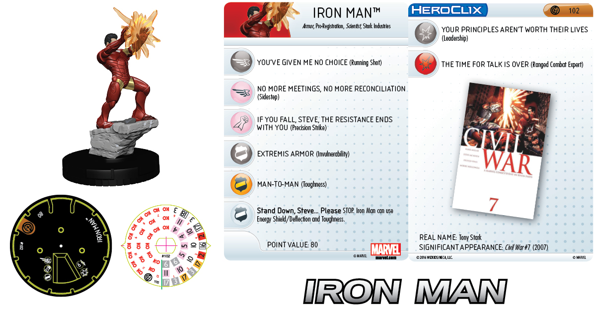 Marvel HeroClix: Civil War Storyline OP - Iron Man Prize Figure