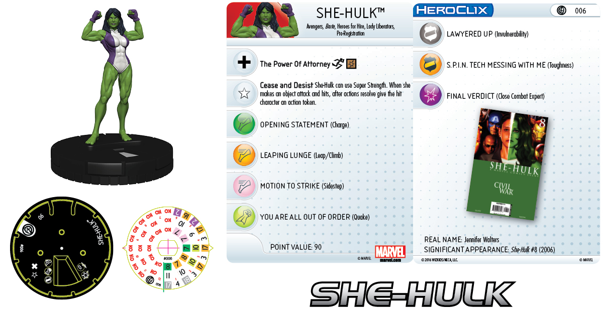 Marvel HeroClix: Civil War Storyline OP - She-Hulk