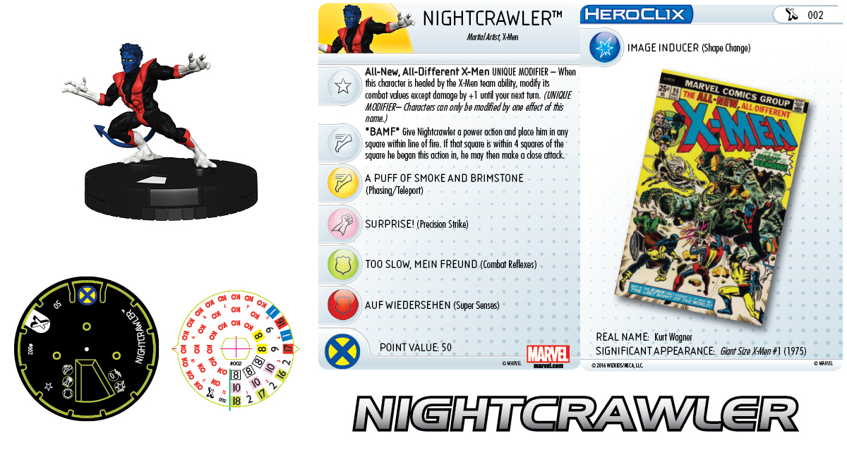 Marvel HeroClix: Uncanny X-Men - Giant-Size X-Men - Nightcrawler