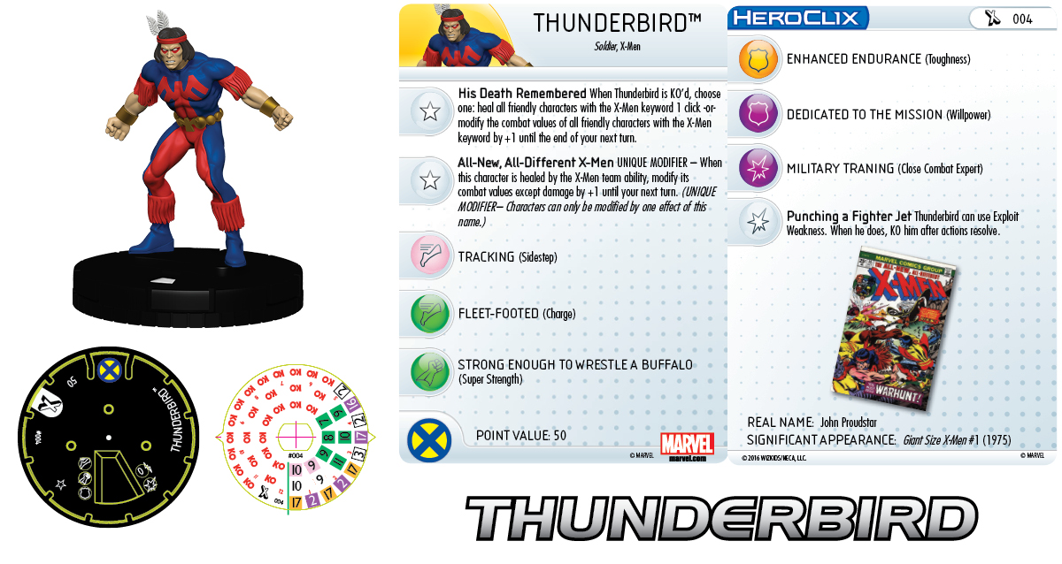 Marvel HeroClix: Uncanny X-Men - Giant-Size X-Men - Thunderbird