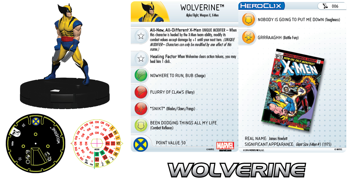 Marvel HeroClix: Uncanny X-Men - Giant-Size X-Men - Wolverine
