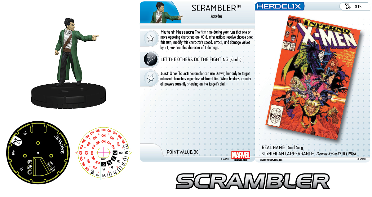 Marvel HeroClix: Uncanny X-Men Marauders - Scrambler