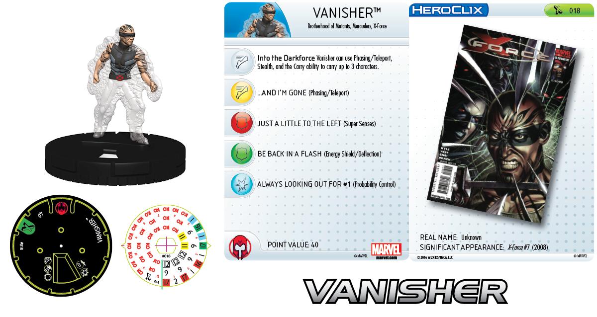 Marvel HeroClix: Uncanny X-Men Marauders - Vanisher