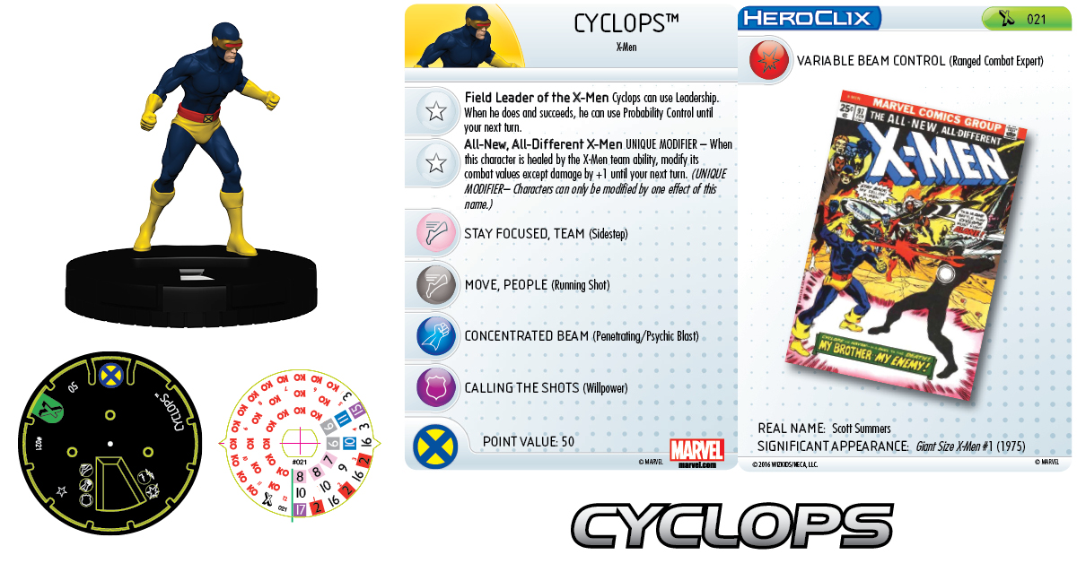 Marvel HeroClix: Uncanny X-Men - Giant-Size X-Men - Cyclops