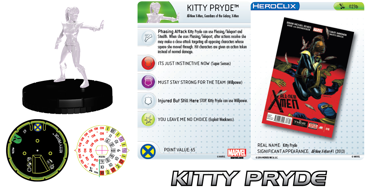 Marvel HeroClix: Uncanny X-Men - X-Women - Kitty Pryde Prime