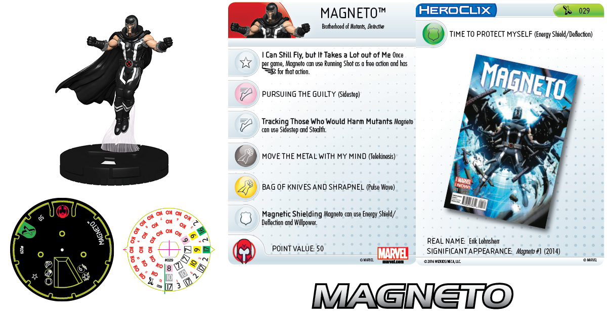 Clix It Up - Marvel HeroClix: Uncanny X-Men Magneto 029