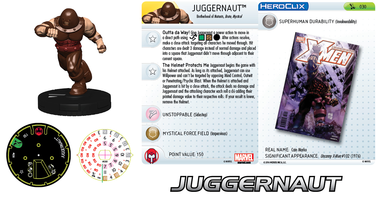 Clix It Up- Marvel HeroClix: Uncanny X-Men - Juggernaut
