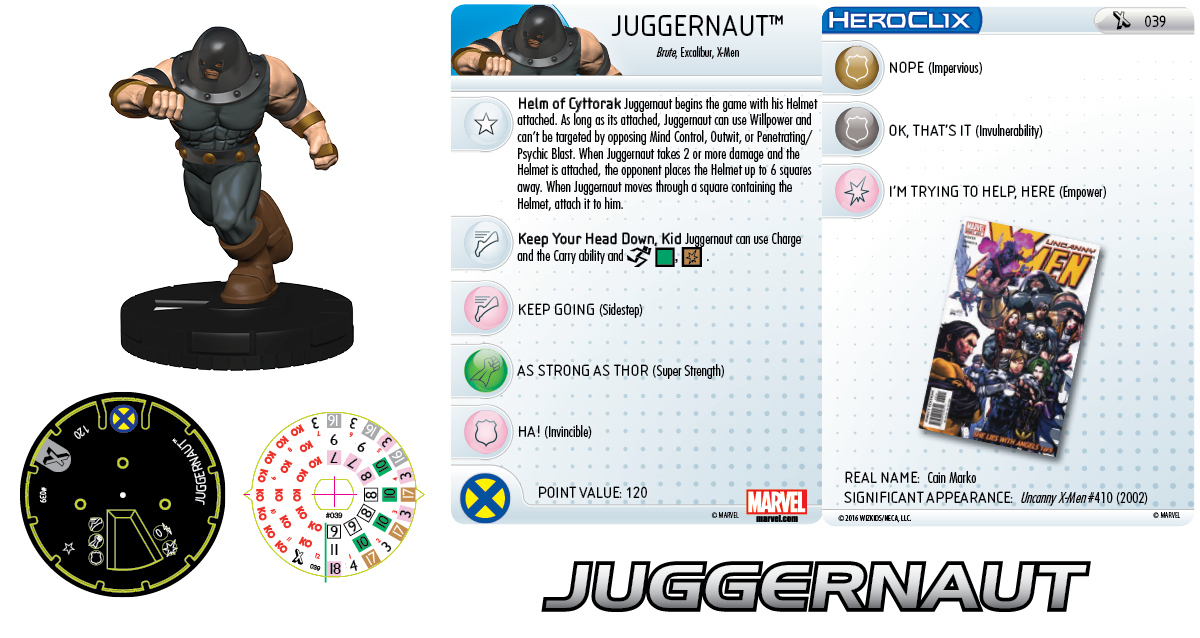 Clix It Up- Marvel HeroClix: Uncanny X-Men - Juggernaut 039