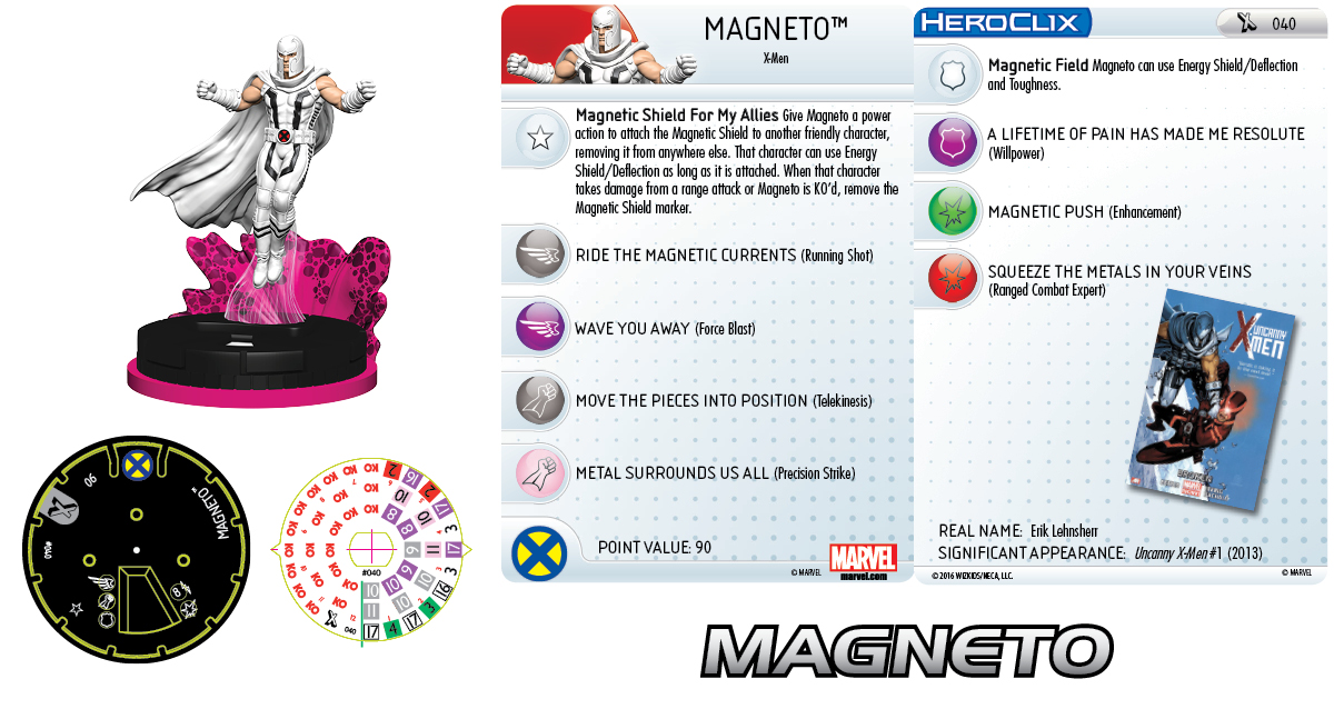 Clix It Up - Marvel HeroClix: Uncanny X-Men Magneto 040
