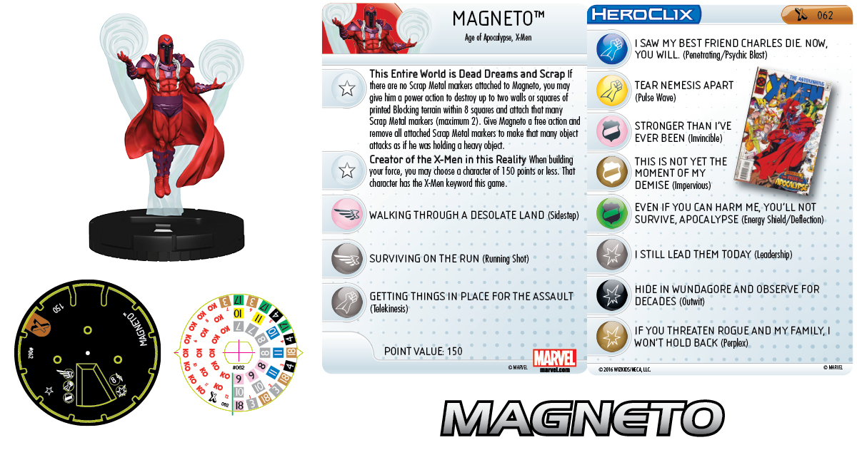 Clix It Up - Marvel HeroClix: Uncanny X-Men Magneto 062