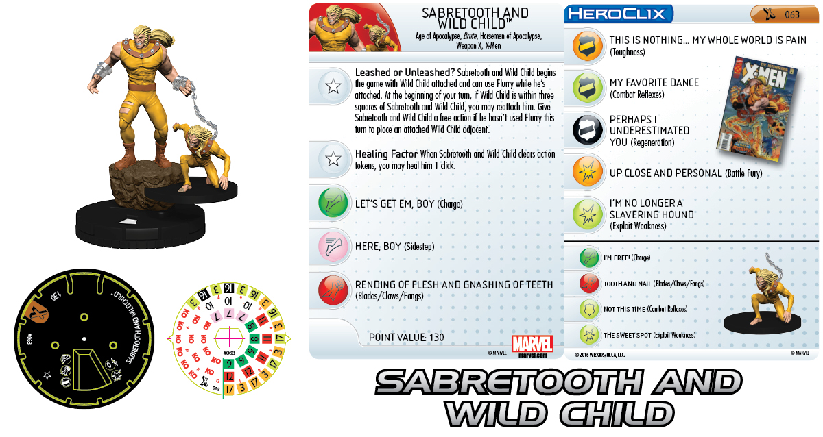 Marvel HeroClix: Uncanny X-Men - Age of Apocalypse - Sabretooth and Wild Child