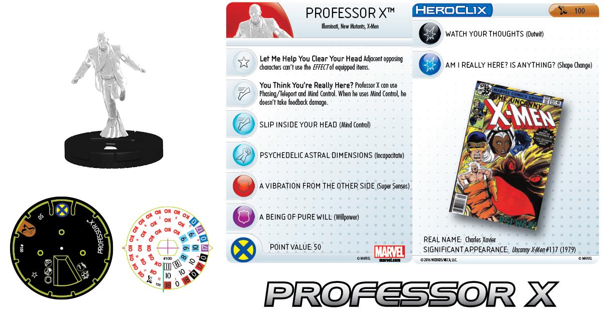 Marvel HeroClix: Uncanny X-Men Release Day OP- Professor X