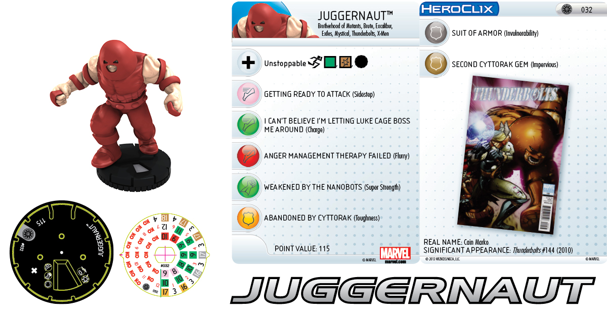 Clix It Up: Marvel HeroClix: Invincible Iron Man - Juggernaut