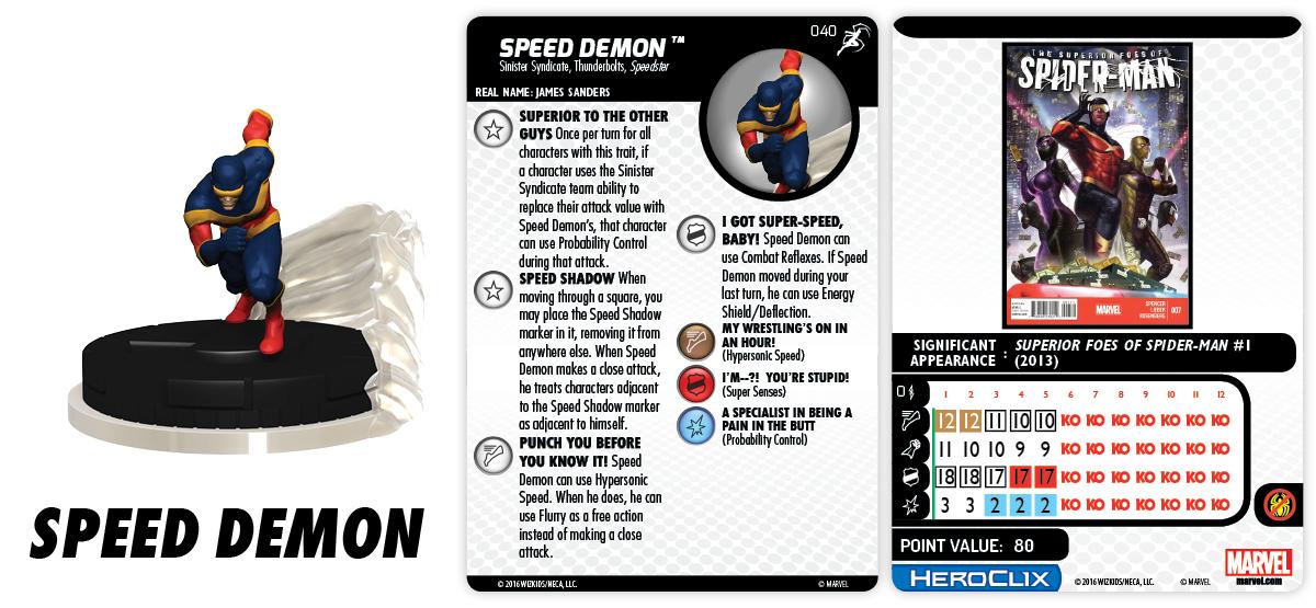 Marvel HeroClix: Superior Foes of Spider-Man - Speed Demon