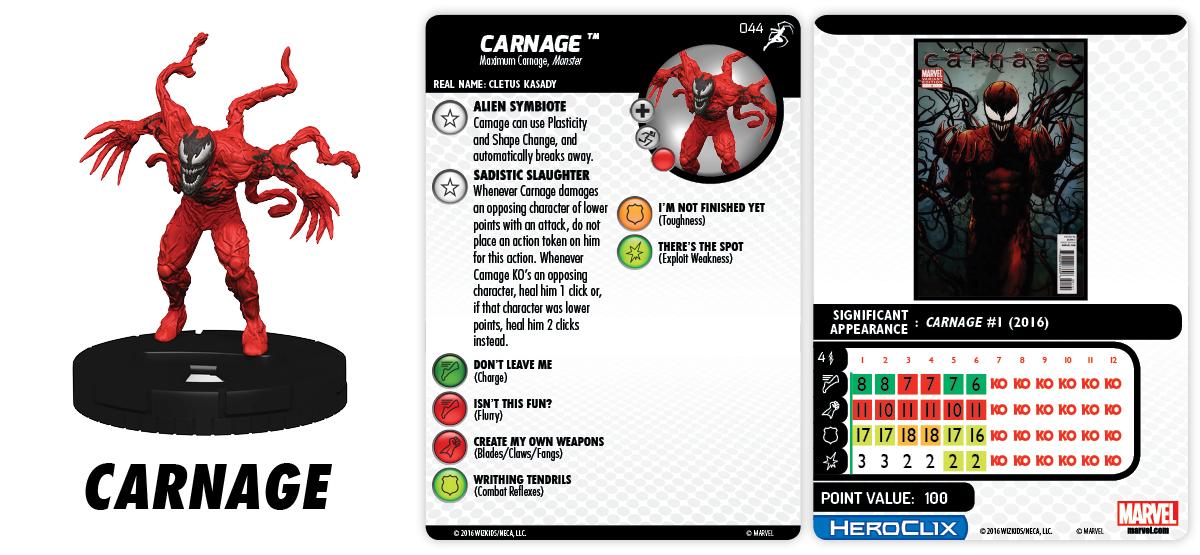 Marvel HeroClix: Superior Foes of Spider-Man - Carnage