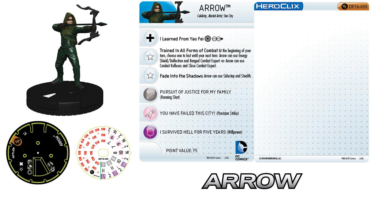 DC Comics HeroClix: Arrow Pack 2016 HeroClix Convention Exclusives