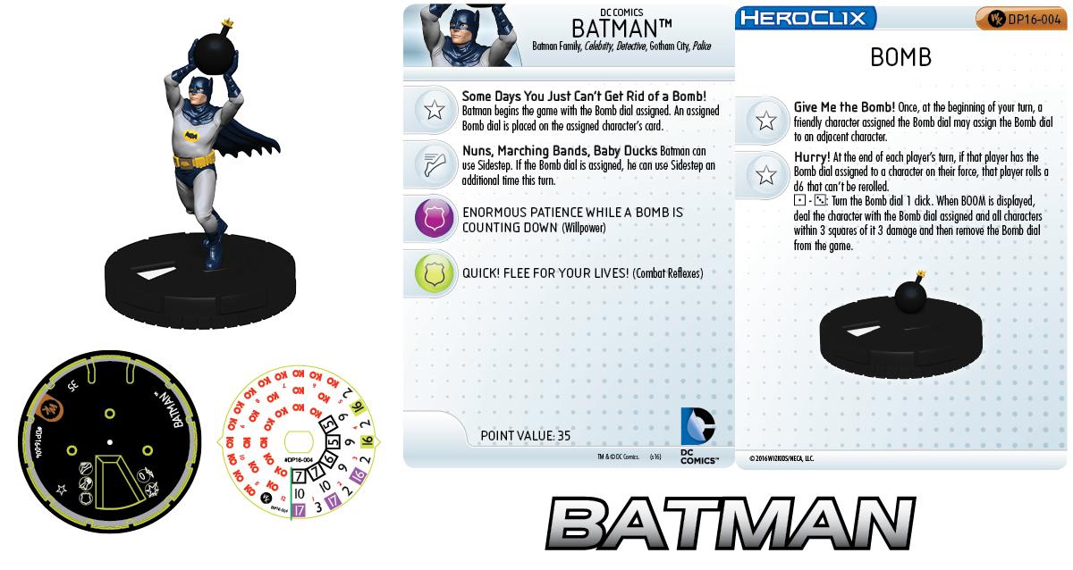 DC Comics HeroClix: Batman with Bomb 2016 HeroClix Convention Exclusives