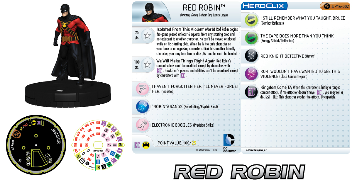 DC Comics HeroClix: Kingdom Come Red Robin 2016 HeroClix Convention Exclusives