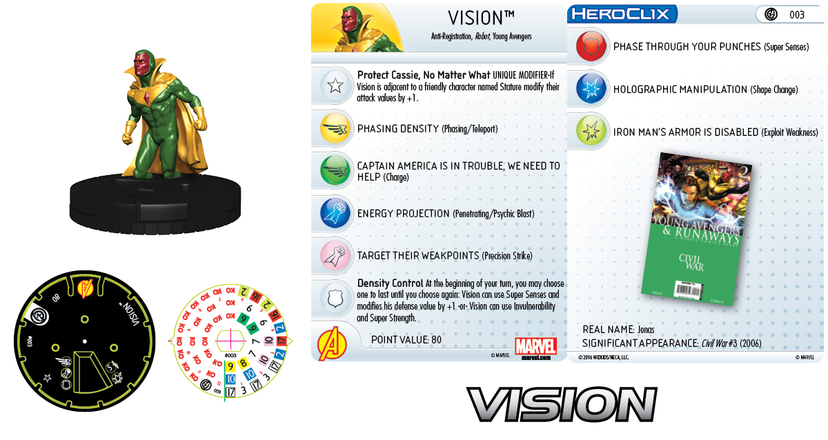 Marvel HeroClix: Civil War Storyline Organized Play - Vision