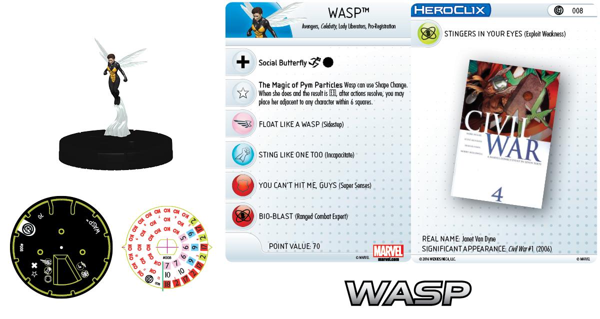 Marvel HeroClix: Civil War Storyline OP - Daredevil and Wasp