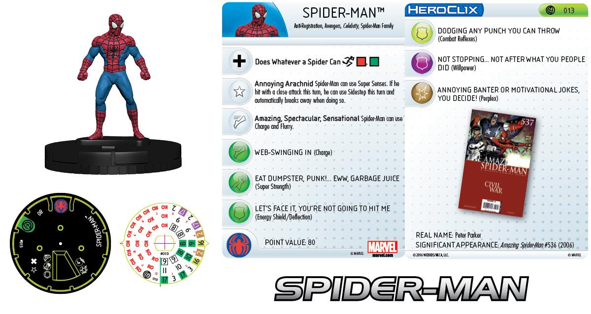 Marvel HeroClix: Civil War Storyline Organized Play- New Avengers Team - Spider-Man