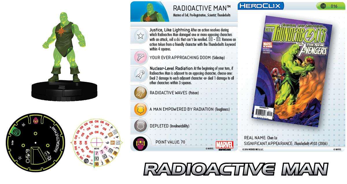 Marvel HeroClix: Civil War Storyline OP - Thunderbolts Team - Radioactive Man