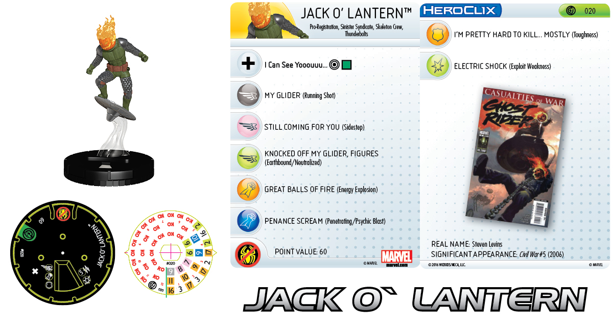 Marvel HeroClix: Civil War Storyline OP - Thunderbolts Team - Jack O'Lantern